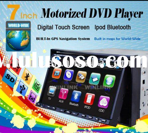 "7"" double din car dvd player with high resolution gps dvb-t"