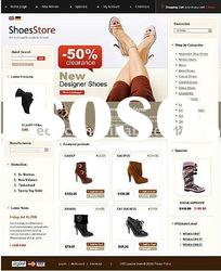 Affordable but Professional Website Design for Shoes Online Shop