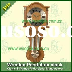 Antique wooden pendulum wall clock quartz