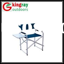 Beach directors chair with table