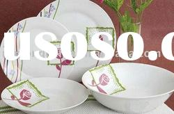 Ceramic dinnerware---19 pcs round porcelain dinner set with decal