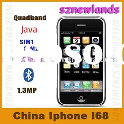 China Mobile Phone I68, i68+, dual sim card , Quad band, 3.2inch, 2.0mp, double bluetooth, JAVA 2.0