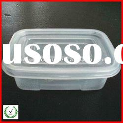 Clear plastic disposable PP tray with lid for food packaging
