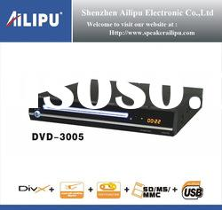 DVD player,speaker inbuilt, USB, SD card reader, digital FM radio