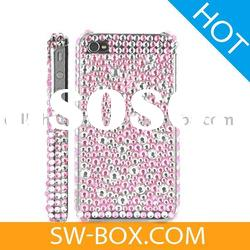 Diamond Rhinestone Bling Hard Case for iPhone 4 (Pink) /for iphone4 case