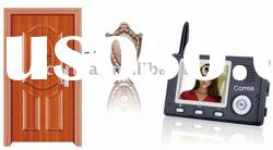 Diital wireless peephole video intercom door phone with peephole viewer outdoor camera