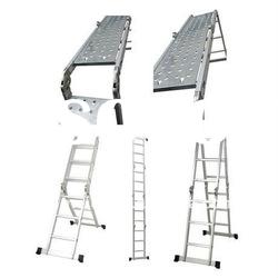 EN131 Approval 4*3 step Aluminum Ladder stair ladder platform