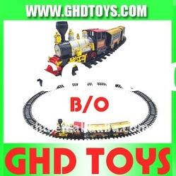 Electric Smoke Track Train Toy With Music Light