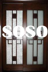 Frosted Glass Wooden Interior Doors Sliding DJ-S411