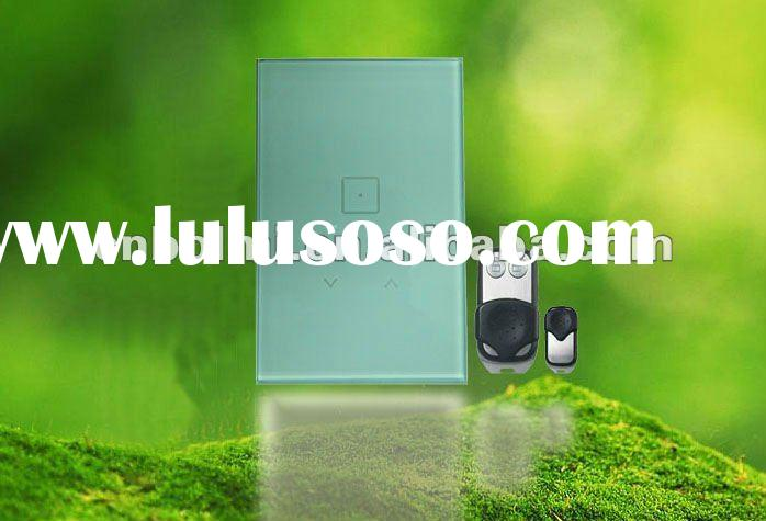 Intelligent touch screen light switch with RF remote control
