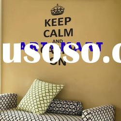 Keep Calm and Carry On - Wall Decals, Home Vinyl Wall Stickers No.022