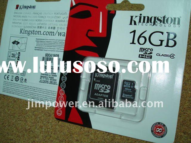 Kingston 16GB MicroSD Memory Card + Adapter