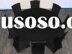 Lycra round tabel covers and black spandex chair cover for wedding banquet