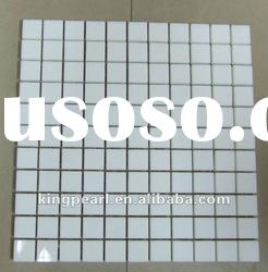 Mcrocrystal White Glass Stone Mosaic Tiles for Wall Tiles