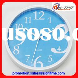 Modern 2011 style plastic wall clock/cheap decorative wall clock