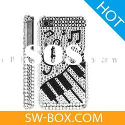 Music Piano Diamond Rhinestone Bling Hard Case for iPhone 4 /case for iphone 4g
