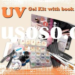 Nail UV Gel Glitter tips Pen Clipper File Set Manicure Kits NA366