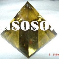 Natural Rock Citrine Crystal Quartz Pyramid