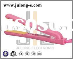 Pink Tourmaline Ceramic Hair Straightener, Hair iron, flat iron, professional beauty products