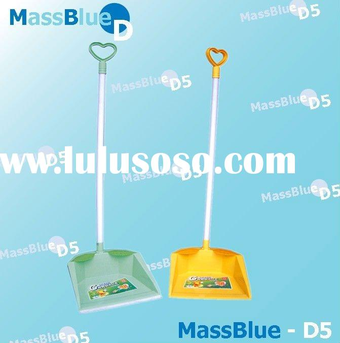 Printed Plastic Dustpan and Brush With Handle
