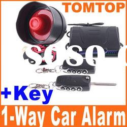 Professional & Best 1-Way Car Alarm Security System with Remote Control + Key