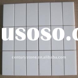 Pure White Crystallized Glass Stone Mosaic Tile