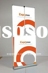 Roll up banner stand for display