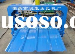 Single Deck Sheet Metal Roof Panel Roll Forming Machine