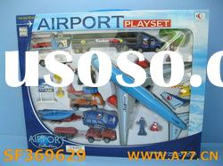Toy Airport play set - plane & car