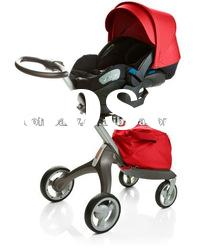 Travel system baby stroller with carrycot and carseat