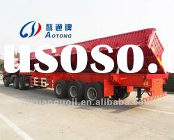 Tri-axle heavy duty side dump semi trailer/side tipper semi trailer