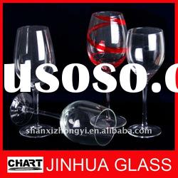 Various styles Handmade Red Wine glasses Goblets Transparent and Colored Glass