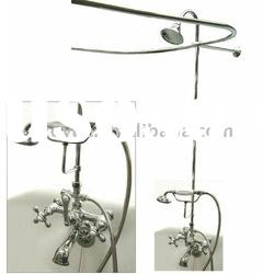 ZYA2125 Chrome Complete Clawfoot Tub and Shower Faucet