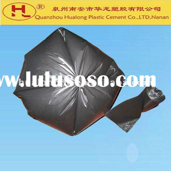 black HDPE garbage bags on a roll