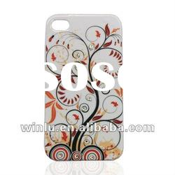 cell phone case tree design with bling rhinestone for iphone4 case PC material