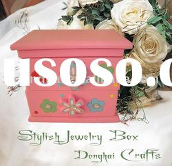 coloured drawing wooden jewelry box/cosmetic boxes/gift boxes