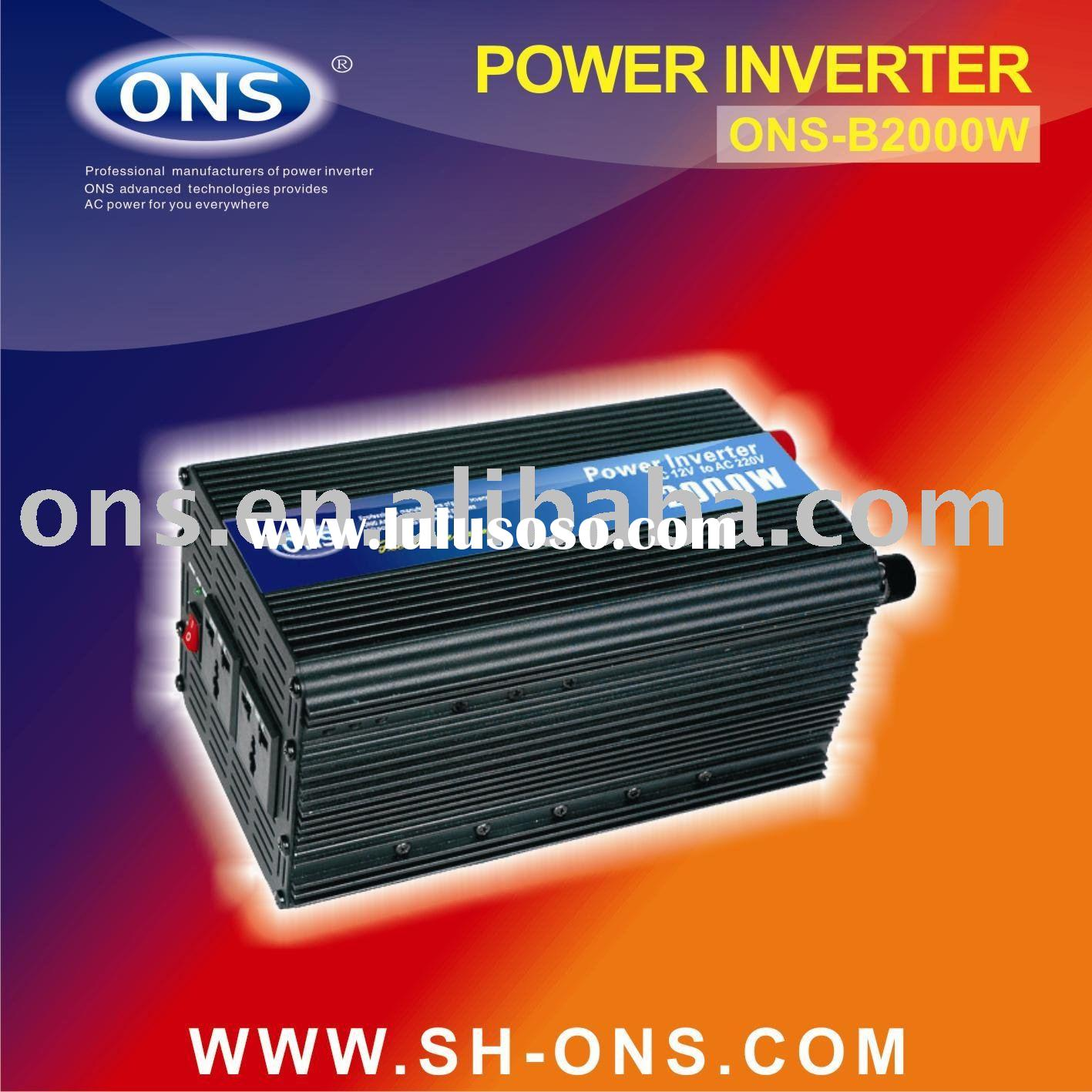 dc to ac power inverter 2000W for outdoor home solar wind using