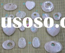 different shape rose quartz stones