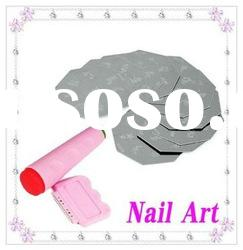 ew Lot 90 Designs Nail Art Stamping Metal Plate + Scraper Knife Stamping Kit