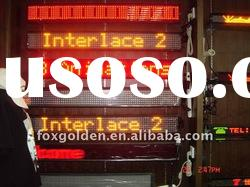 flexible led display/sign board P16 bi/dual color programmable led moving message sign board