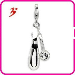 for boutique fashion cheap silver baseball and bat pendants jewelry factory in china