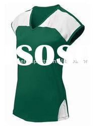 girl's volleyball uniform,10-11 new tennis jersey design,green sleeveless sportswear