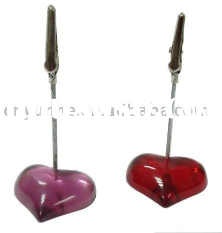 heart shape namecard clip memo holder