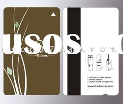 high quality hotel key card with Loco magnetic strip(paypal accepted)
