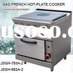 industrial gas cooker, DFGH-783A-2 gas french hot plate cooker with oven