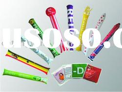 inflatable cheering bang bang thunder stick ,air stick LED light up footbal fans stick