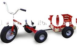 kids/children ride on tricycle toy trailer red TC1803F