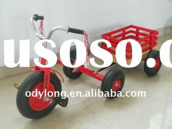 kids pedal tricycle toys with wooden trailer/kids tricycles/baby tricycles