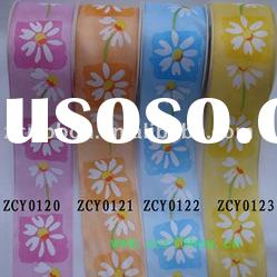 satin ribbon;printed ribbon;spring ribbon, ribbon bow