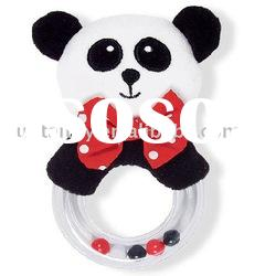 soft plush baby toy/baby rattle